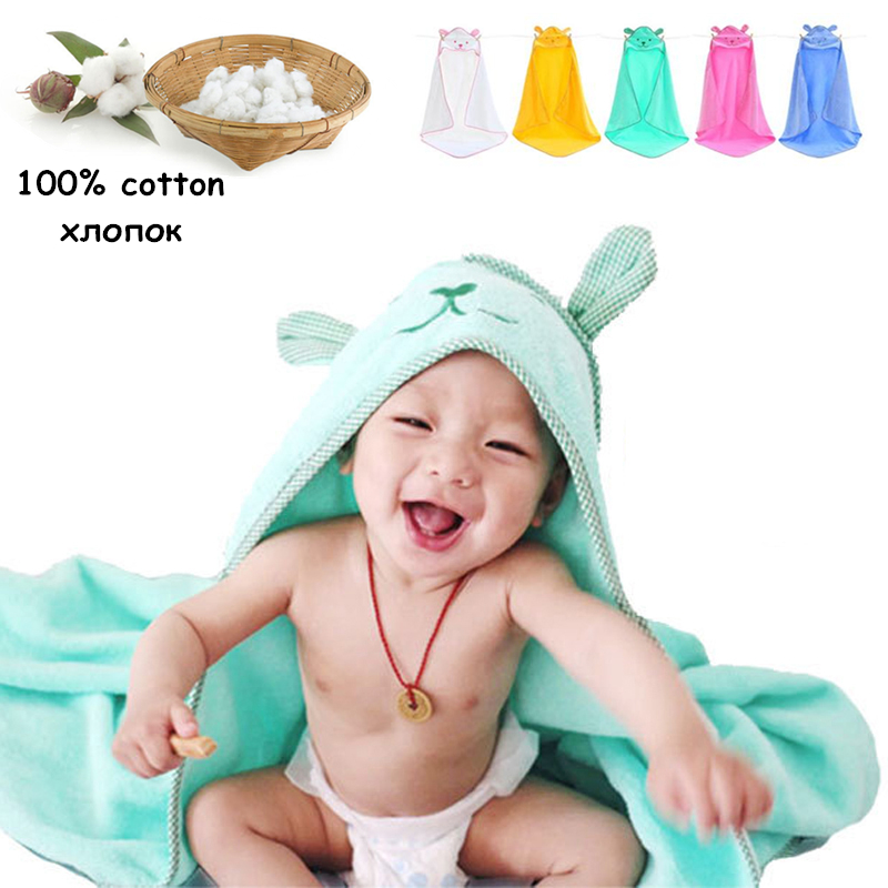 Newborn Bebe Cotton Towel Baby Hooded Towel For Kids Towel Infant Bebe Newborn Children's Blanket Baby Bath Poncho Spa Bathrobe