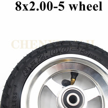 For KugooS2 S1 Electric Scooter 8x2.00-5 Wheel Tubeless Tire with Aluminum Alloy Rim Universal 2.10-5 Tyre