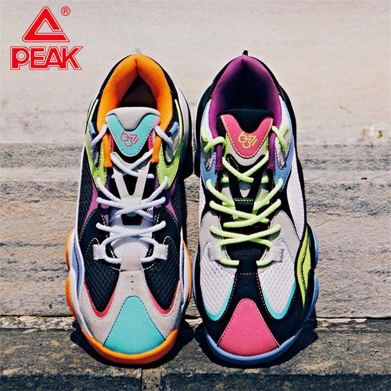 PEAK TAICHI Men Basketball Culture Shoes Fashion Retro Sneakers Breathable Lightweight Casual Shoes Cushion Sports Shoes|Basketball Shoes| |  - title=