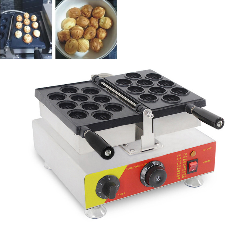 Commercial Electric Nonstick Korean Core Walnut Machine Walnut Waffle Iron Cake Maker Machine 10PC time CE 110V 220V in Waffle Makers from Home Appliances