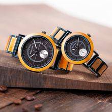 BOBO BIRD Relogio Masculino ผู้ชายนาฬิกาไม้สร้อยข้อมือควอตซ์นาฬิกาข้อมือที่กำหนดเองวันเกิดของขวัญเขาของเธอคริสต์มาสของขวัญ