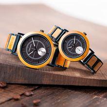ボボ鳥レロジオ Masculino 男性時計木ブレスレットクォーツムーブメント腕時計カスタム誕生日プレゼント彼に彼女のクリスマスギフト