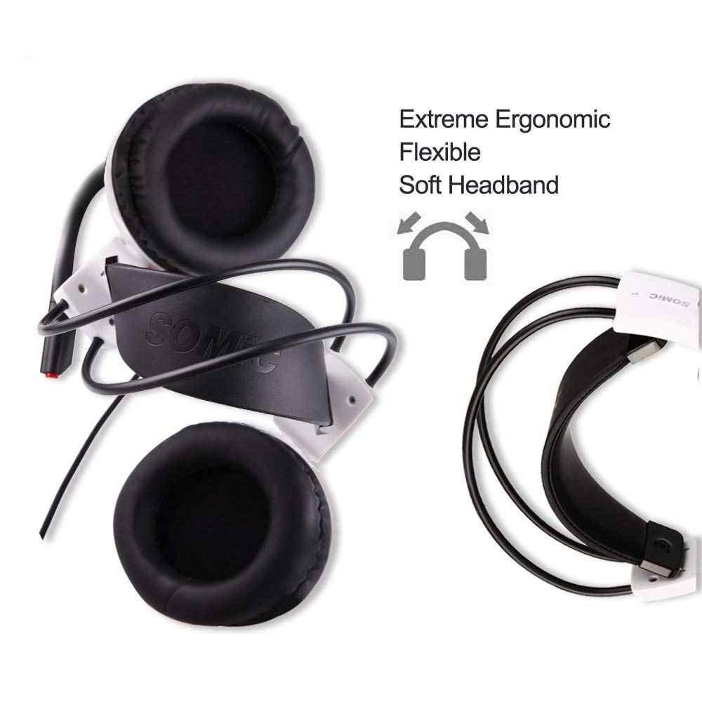 Somic G941 7.1 dźwięk wibracji do gier zestaw słuchawkowy Stereo Bass z redukcją szumów słuchawki z mikrofonem światła LED wtyczka USB do gier na PC