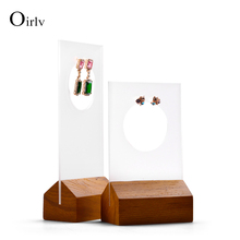 Oirlv Solid Wooden Jewelry Display Ring Earring Holder Display Jewelry Holder Ring Exhibition for Jewelry