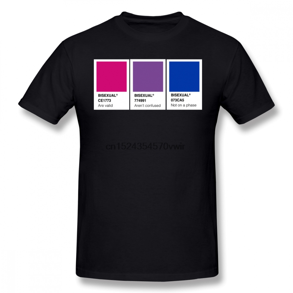 <font><b>Bisexual</b></font> <font><b>T</b></font> <font><b>Shirt</b></font> <font><b>Bisexual</b></font> <font><b>T</b></font>-<font><b>Shirt</b></font> Man Cotton Tee <font><b>Shirt</b></font> Cute Oversized Printed Short-Sleeve Classic Tshirt image