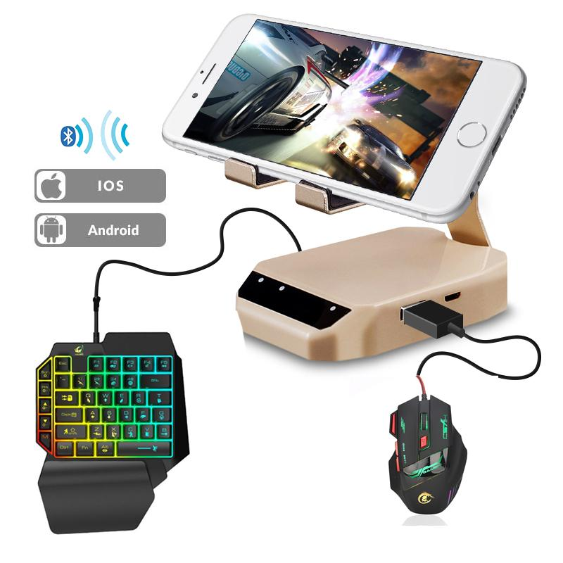PUBG Bluetooth Keyboard Mouse Converter Stand Gaming PUBG Mobile Gamepad Controller Phone Holder For Android IOS