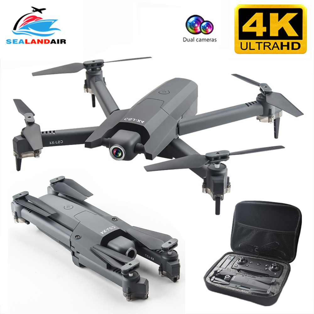 SEALANDAIR New Drone 4K 16MP Pixel FPV WIFI RC Quadcopter Real Time Video Optical Flow Foldable Drone Camera HD Quadrocopter Toy