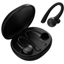 Tws bluetooth 5.0 fones de ouvido sem fio esportes fone de ouvido gancho correndo estéreo com microfone à prova dwaterproof água