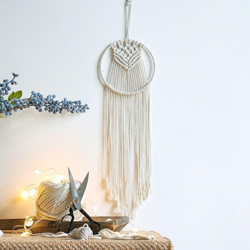 Nordic Dream Catcher Tapestry ตกแต่งห้องพักหน้าแรกตกแต่ง handmade Dream Catcher macrame Dreamcatcher ของขวัญ