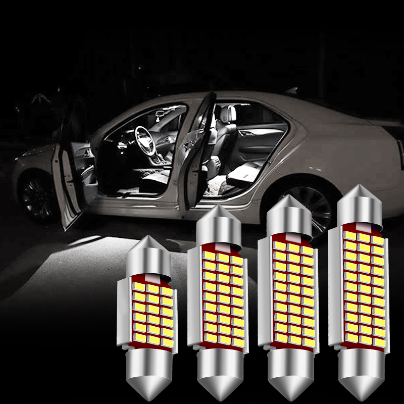 2pcs Double Point High Light 31/36/39/41mm Car Coding Reading Lights LED Interior Car Lights Voiture Light-emitting Diode Bulbs
