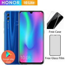 Honor 10 Lite, 4G, мобильный телефон, Android 9,0, 6,21 дюйма, FHD, 2340X1080, двойной шрифт, задняя камера 24 МП, AI камера, отпечаток пальца, 710, Восьмиядерный