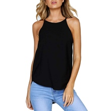 Summer Women Solid Color Top Fashion Casual Tank Sleeveless Irregular T-Shirts Female Tops