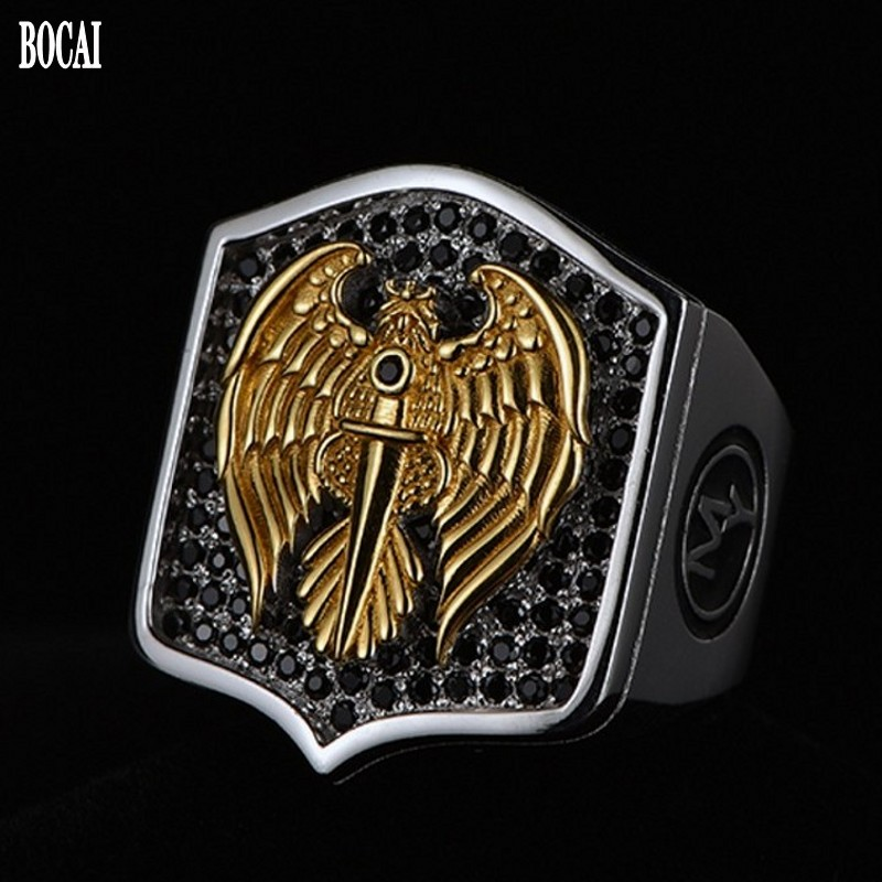 925 silver ring  retro eagle sword for men single ring simple individuality domineering Thai silver man's rings men's jewelry