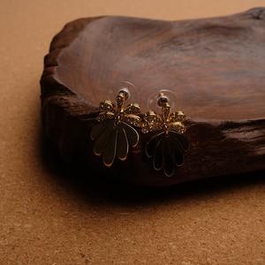 Image 3 - Amorita boutique Leaf designs stylish metal drop earrings