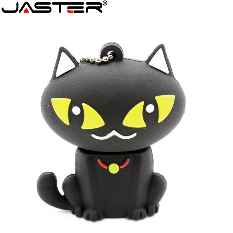 JASTER Cute Cat Sailor Moon Luna Pendrive Sailor Moon Series Memory Stick Pendrive 32GB 16GB 64GB Usb Flash Drive Memory Stick