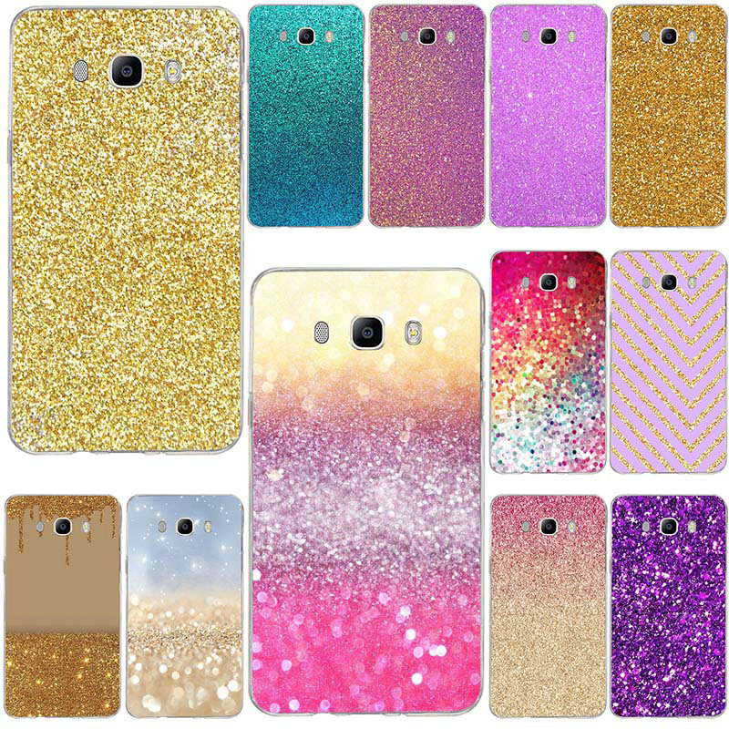 For Samsung Galaxy A3 A5 A7 J3 J5 J4 J6 J7 J8 2015 2016 2017 2018 Shell Soft TPU Mobile Phone Case Cover Cute Girly Pink Sparkly
