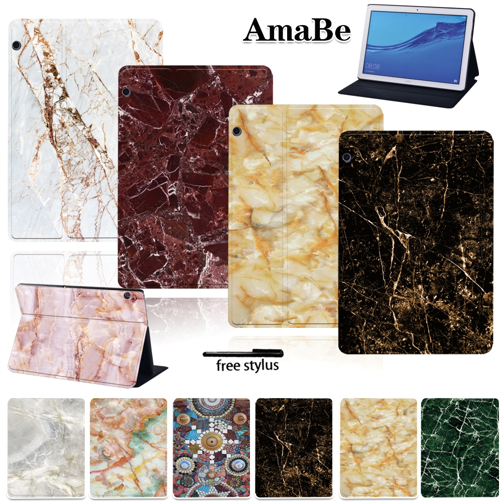 Marble Shockproof Leather Cover Case For Huawei MediaPad T5 10 10.1inch Protective Skin Tablets Case