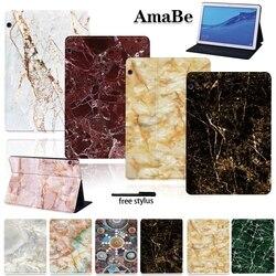Housse en cuir antichoc en marbre pour Huawei MediaPad T5 10 10.1 pouces étui de protection pour tablettes