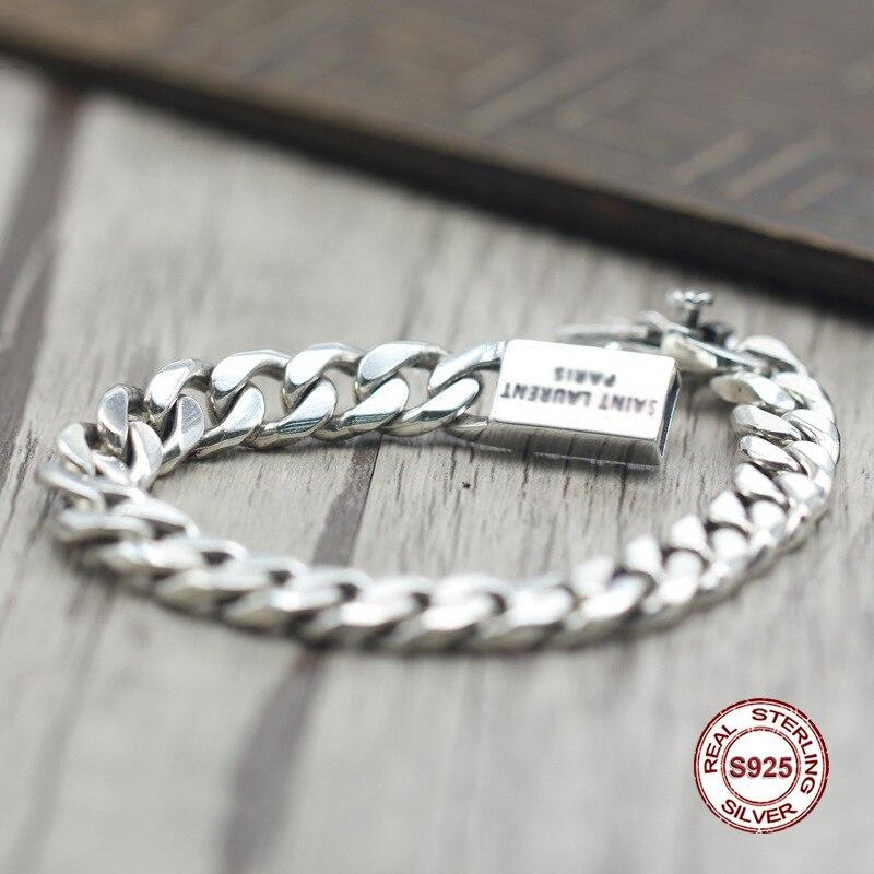 2017 s925 argent sterling nouveau bracelet Simple et généreux populaire rétro tressé bracelet style classique envoyer un cadeau à l'amour