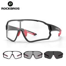 ROCKBROS Radfahren Gläser Photochrome MTB Rennrad Gläser UV400 Schutz Sonnenbrille Ultra-licht Sport Sicher Brillen Ausrüstung