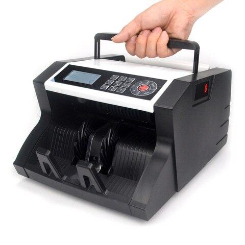 maquina de contagem do dinheiro da conta com contagem semi valor
