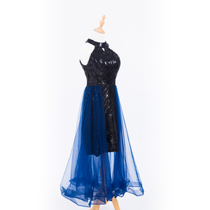 Image 3 - 플러스 사이즈 이브닝 호스트 긴 드레스 높은 목 지퍼 간단한 파티 가운 Soiree 섹시한 공식 드레스 MS 0080