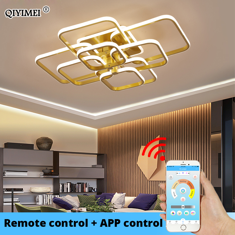 modern led chandelier with remote control acrylic lights For Living Room Bedroom Home Chandelier ceiling Fixtures Free Shipping 1