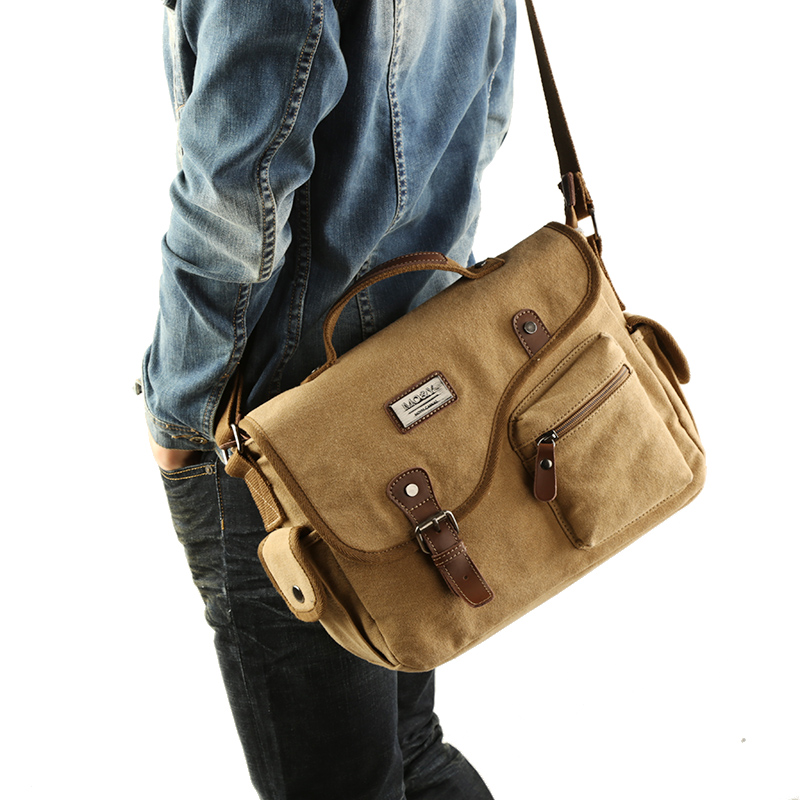 Mens Bag Tote Messenger-Bag Crossbody-Bags Canvas Multifunction Male New-Fashion Youth-Package