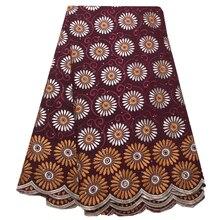 Новое поступление, Африканская Хлопковая вуаль, кружевная ткань, высокое качество с камнем, швейцарская вуаль, кружева в Швейцарии, африкан...