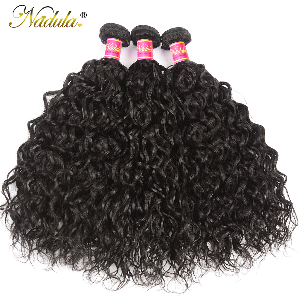 Nadula Hair 3piece  Water Wave Bundles 8-26inch  s Natural Color  1
