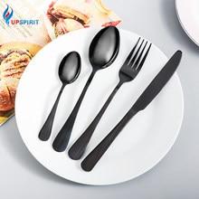Upspirit criativo conjunto de louça 16 pçs talheres de aço inoxidável conjunto faca garfo colheres talheres kit conjunto louça segura