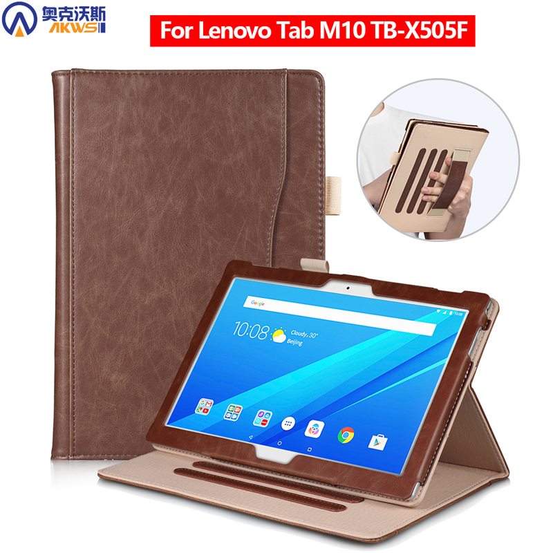 Cover Case For Lenovo M10 Tablet TB-X505F Leather Cover For Lenovo Tab 10.1 Case M10 Case With Handstrap Pen