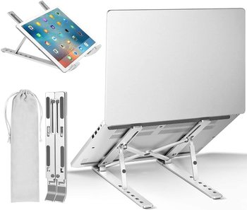 Portable Laptop Stand Aluminium Foldable Macbook Pro Support Adjustable Notebook Holder Tablet Base For PC Computer Bracket - discount item  41% OFF Laptop Parts & Accessories