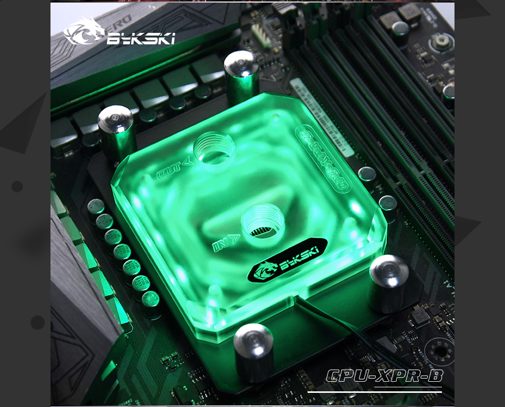 Bykski CPU-XPR-B-AM Frosted Acrylic CPU Water Cooling Block For AM3/AM4 Ryzen3/5/7 RGB(12v 4pin) RBW(5v 3pin)
