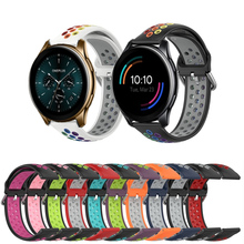 Rainbow สายคล้องข้อมือสำหรับ OnePlus นาฬิกา46มม.ซิลิโคนสปอร์ตสำหรับ Huami Amazfit Bip U Pro GTS 2กันน้ำสมาร์ท Watchband