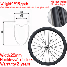 super light 700c width 28mm carbon road bike disc wheels gravel wheel 45mm hookless tubeless bicycle disc wheelset 12x100 12x142 цена 2017