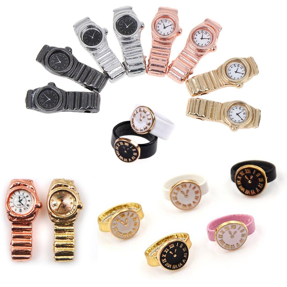 1 шт. 1:12 миниатюрные часы для кукольного домика декор мини мебель игрушки куклы аксессуары|Игрушечная мебель|   | АлиЭкспресс