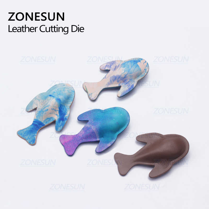 ZONESUN DIY Schlüssel Kette Leder Geformte Form Handwerk Werkzeuge Moldling Leder Stanzen Sterben Schnitte Tool Sets