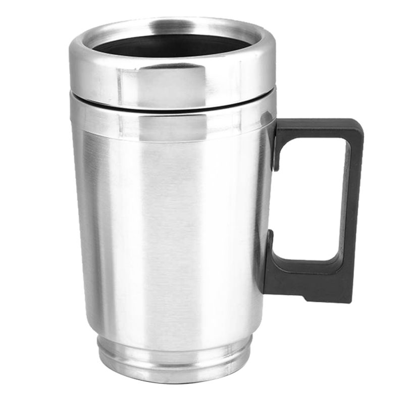 Universal 450ml Electric In-car Stainless Steel Travel Heating Cup Coffee Tea Car Cup Mug  For Most Car Cup Holders 12/24V