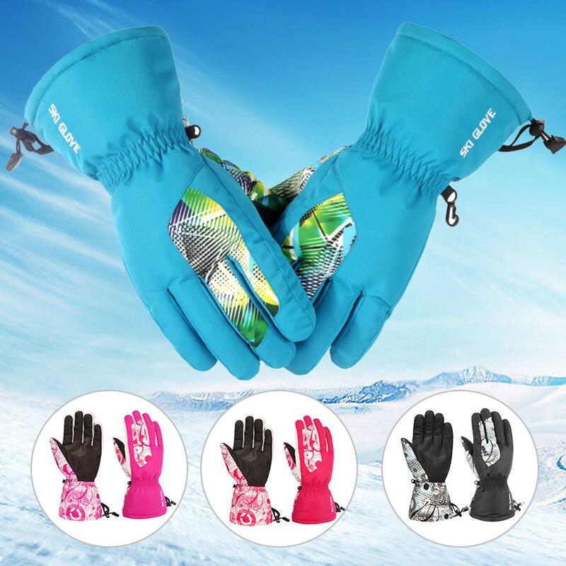 Winter Professional Ski Gloves Girls Boys Adult  Sports Waterproof Windproof Non-slip Snow Snowboarding  Gloves New2019