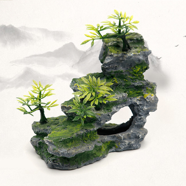 Stone Mountain Rockery Micro Landscape Scenery Fish Tank Accessories 4