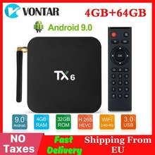 4GB RAM 64GB ROM TX6 Mini smart tv Box Android 9.0 Allwinner H6 2GB 4K TX6 zestaw odtwarzacza multimedialnego Top Box 2.4G/5GHz Dual WiFi BT4.1(China)