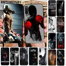 Phone Case Boxing Black TPU Soft Phone Cover for Xiaomi 8 9 se Redmi 6 6pro 6A 4X 7 note 5 7(China)