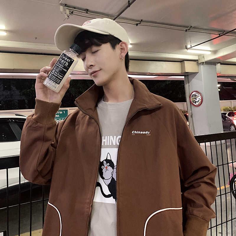 Красивая весенняя и летняя Популярная Корейская версия студенческой узкой модной пары трендовая повседневная куртка уличная одежда в стиле хип-хоп Berserk