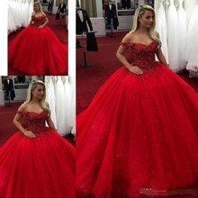 Ярко красное бальное платье 2019 платья для quinceanera милые