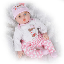 40cm/55cm Silicone Reborn Doll Bebe 16/22inch Lifelike Realistic Alive Baby Real Menino Mohair Chris