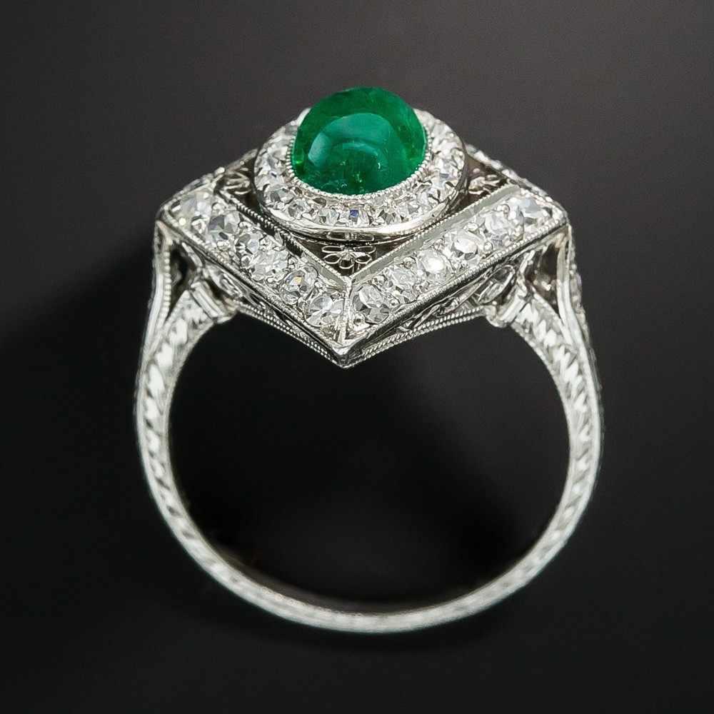 เรขาคณิตใหญ่แหวนผู้หญิงผู้ชาย 925 เงินสีเขียวหิน Birthstone แหวน Zircon คริสตัลตุรกีเครื่องประดับแหวนมรกต
