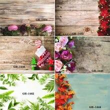 Виниловый фон для фотосъемки на заказ с изображением деревянных