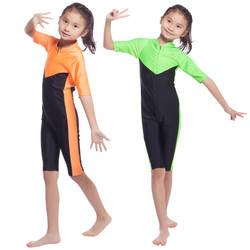 Мусульманский Хуэй Национальный Купальник для девочек консервативный сиамский купальник, HW20B