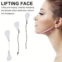 40Pcs / Set Invisible Thin Face Facial Stickers Facial Line Wrinkle Flabby Skin V-Shape Face Lift Tape Face Chin Lift Tools